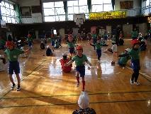 縄跳び練習の様子