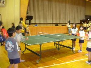 卓球クラブ、活動の様子1