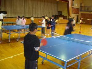 卓球クラブ、活動の様子2