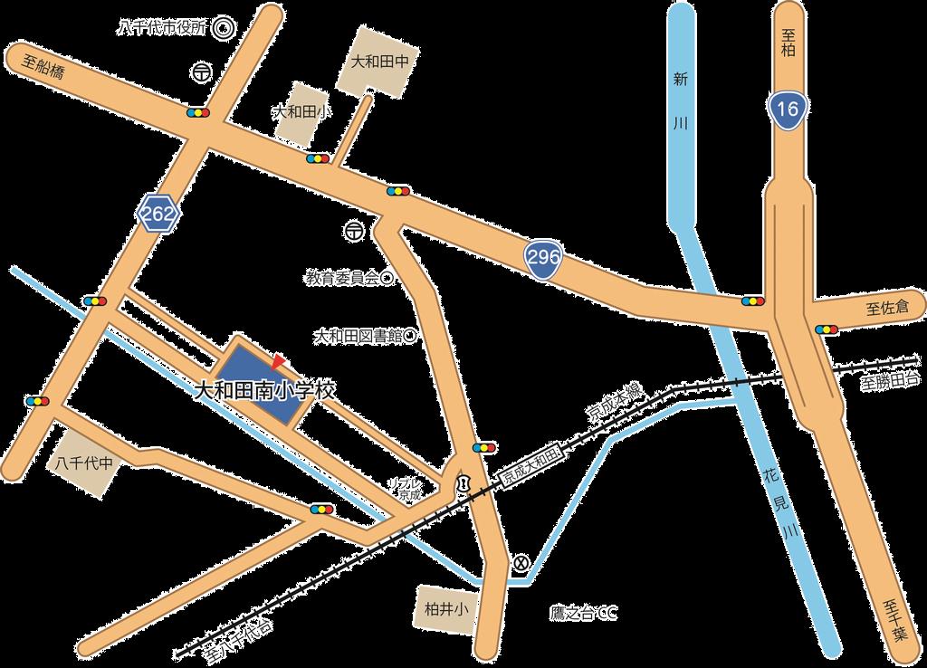大和田南小学校の周辺地図