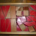 算数資料 赤い積み木