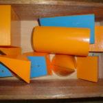 算数資料 オレンジと水色の積み木
