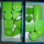 算数資料 黄緑の積み木
