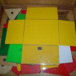 算数資料 黄色の展開図