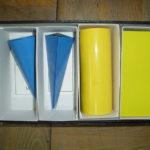算数資料 青の三角錐 黄色の楕円