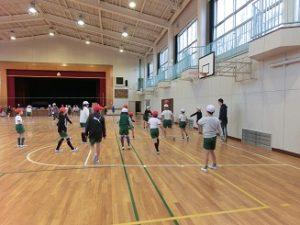 ミニバスケットボールクラブ、活動の様子