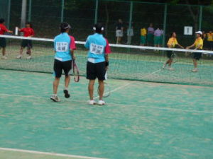 女子テニス部の様子1