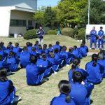 最初のレクは班対抗ドッチボール大会です。