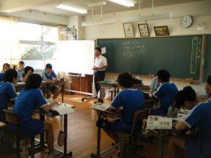 K先生の社会では,今日も豆知識が繰り広げられています。みんな興味津々です!