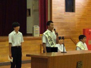 立候補者全員が,堂々とした演説を述べていました。