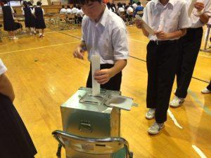 自分たちの手で学校をつくり上げていく気持ちを持って,投票できていたのではないでしょうか。