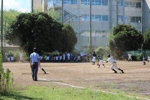こちらは日曜日の野球部新人戦です。勝田台・阿蘇・睦中でチームを組みました。