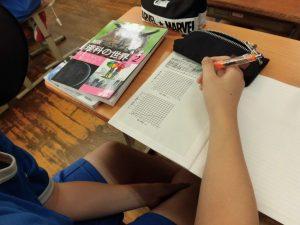 今日もまたきれいなノートに出会いました。グラフをきれいに書いています。