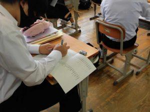 こちらは書いて書いて書いて覚える人。自分に合った方法で,テスト直前の学習を進めます。