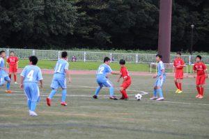 土曜日,サッカー部の新人戦,準決勝が総合グラウンドで行われました。