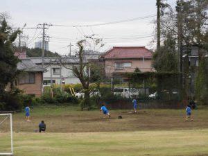 遠くには,野球部の練習が見えました。