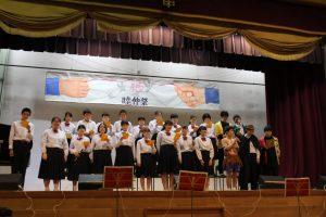 歌あり楽器演奏ありの楽しいステージです。