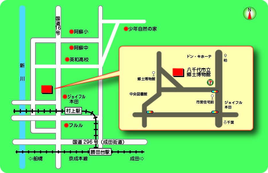 郷土博物館案内図